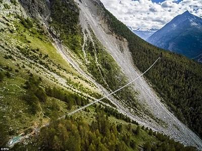 Buat Merinding, Swiss Punya Jembatan Gantung Terpanjang Di Dunia